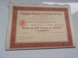 Compagnie Financière Et Foncière De Paris (1929) - Actions & Titres