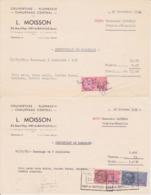 TIMBRE FISCAL 1959 23 Francs + 1960 0,25 NF  Lot De 2 Certificat De Ramonage De Cheminée L.MOISSON 27 Ivry La Bataille - Fiscales