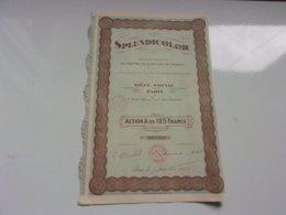 SPLENDICOLOR (rue De La Tour Des Dames PARIS) 1929 - Actions & Titres