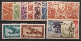 Indochine - 1946-49 - Poste Aérienne N°Yv. 39 à 48 - Complet 10 Valeurs - Neuf Luxe ** / MNH / Postfrisch - Indochine (1889-1945)