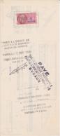TIMBRE FISCAL 1959 7 Francs LETTRE DE CHANGE SA MULLCA Noisy Le Sec BNCI CIN Rouen - Fiscales