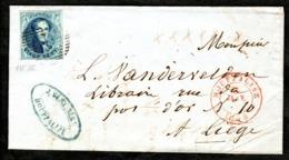 N° 7 Sur Lettre LAC Oblitération P61 De HOUFFALISE. - 1851-1857 Médaillons (6/8)
