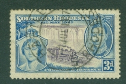 Southern Rhodesia: 1937   Coronation   SG38     3d     Used - Rhodésie Du Sud (...-1964)