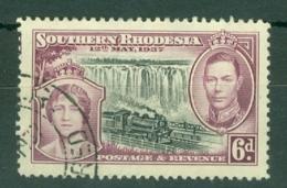 Southern Rhodesia: 1937   Coronation   SG39    6d     Used - Rhodésie Du Sud (...-1964)