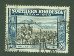 Southern Rhodesia: 1940   BSAC's Golden Jubilee   SG57    3d    Used - Rhodésie Du Sud (...-1964)