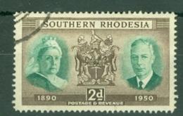 Southern Rhodesia: 1950   Diamond Jubilee Of Southern Rhodesia   SG70     2d    Used - Rhodésie Du Sud (...-1964)