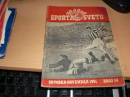 30 Dana Sporta U Svetu 1951 Football 64 Pages - Unclassified