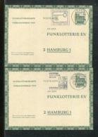 Bundesrepublik Deutschland / 1969 / 2 Funklotterie-Postkarten O (24554) - [7] Federal Republic