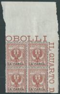 1905 LEVANTE LA CANEA AQUILA 2 CENT QUARTINA LUSSO MNH ** - RB10-10 - 11. Oficina De Extranjeros