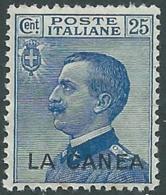 1907-12 LEVANTE LA CANEA EFFIGIE 25 CENT MNH ** - RB2-8 - 11. Oficina De Extranjeros