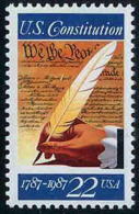 USA 1987 Signing Of The Constitution Stamp Sc#2360 Quill Pen Feather History - Other