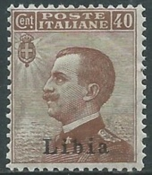 1912-15 LIBIA EFFIGIE 40 CENT MNH ** - RB2-6 - Libya
