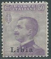1912-15 LIBIA EFFIGIE 50 CENT I TIPO MNH ** - RB2-3 - Libya