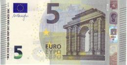 (Billets). 5 Euros 2013 Serie UB, U003I2 Signature 3 Mario Draghi N° UB 8042486798 UNC - EURO