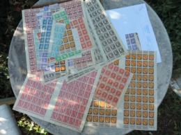 Lot + 1000 Timbres France Années 40. - Postzegels