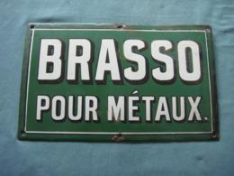 Plaque émaillée  Brasso 33cm Par20 - Reclameplaten