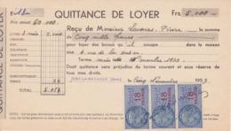TIMBRE FISCAL 1959 3 X 18 FRANCS Quittance De Loyer 27 Ivry La Bataille Rue De La Prison - Fiscales