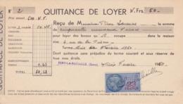 TIMBRE FISCAL 1960 23 FRANCS Quittance De Loyer 27 Ivry La Bataille Rue De La Prison - Fiscales