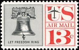 USA 1961 Air Mail Stamp Sc#c62 Liberty Bell  Plane - Holidays & Tourism