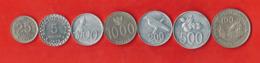 Indonesia 7 Coins Set. Random Years. - Indonesia