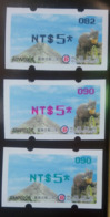Black, Red & Green Imprint Of 2019 Formosan Serow ATM Frama Stamps  - Goat Mount Unusual - Oddities On Stamps