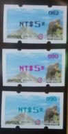 Black, Red & Green Imprint Of 2019 Formosan Serow ATM Frama Stamps  - Goat Mount Unusual - Errori Sui Francobolli