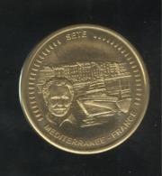 Médaille Souvenir Sète Méditerranée France - Diamètre 45 Mm - Touristiques
