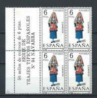 ESPAÑA 1969 - ED. 1907 ** TRAJES NAVARRA BL.4 - 1931-Aujourd'hui: II. République - ....Juan Carlos I