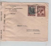 PR7146/ TP 177-199 S/L.Frigorifères Congo C.Matadi 3/9/40 Via Léo 6/9 Bde Censure Congo Belge > Suisse - Congo Belge