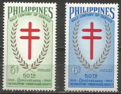 Philippines - 1960 TB Society MNH **   Mi 659-60  Sc 819-20 - Philippines
