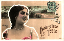Artiste Femme 1900 - Toledo, Paysage Reutlinger 898-10 - Artiesten