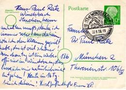 Vordruck -PK Von Windsbach 1956 Mit Werbestempel - Briefe U. Dokumente