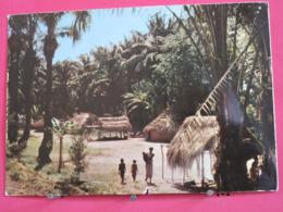 Afrique En Couleurs - Village Africain - Scans Recto Verso - Cartes Postales