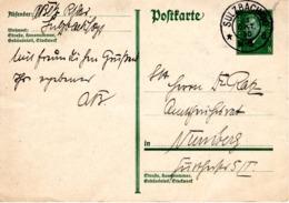 Vordruck -PK 8 Pf Von Sulzbach 1930 - Deutschland