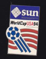 60045- Pin's .Sun Microsysteme.football World Cup USA..signé 1991 Wc 94 Isl By Aminco. - Football