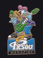 60048- Pin's .Picsou Magazine.donald.Presse.journal.signé Walt Disney... - Disney