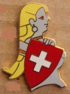 PIN UP BLONDE - DRAPEAU SUISSE - SWISS FLAG - EGF - HELVETIA - LIMITE 100 EX -                (22) - Pin-ups