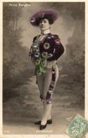 Artiste Femme 1900 - Delagarde, Folies Bergère Strass Paillettes Matador - Artisti