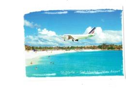 Cpm - St Maarten, JULIANA AIRPORT - Avion Dans Le Ciel AIR FRANCE - Saint Martin