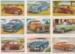 Lot 9 Images 5x7 Cm  AUTOS Années 40/50 - Old Paper