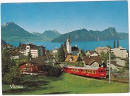 Vitznau - Rigi-Bahn - Vierwaldstättersee - (Schweiz/Suisse) - Treinen