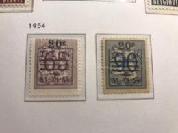 BELGIUM MNH** COB 841/42 LION HERALDIQUE - Belgique