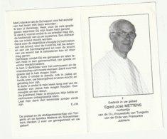 Egied José METTENS Norbertijn OLVrouwabdij Tongerlo Orde Prémontré Antwepen St. Géraard Raverside Borchtlombeek 1989 - Devotieprenten
