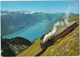 Brienz-Rothorn-Bahn Auf Talfahrt - Brienzersee Und Berner Alpen - (Schweiz/Suisse) - Treinen