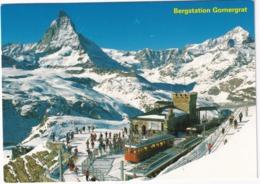 Bergstation Gornergrat 3089  M, Matterhorn, Mt. Cervin, Wallis - (Schweiz/Suisse) - Stations - Met Treinen