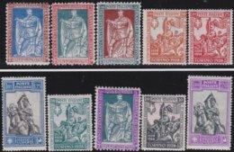 Italy    .     Yvert    .     213/222   .     **  .     MNH  .   /    .   Neuf SANS  Charniere ** - 1900-44 Vittorio Emanuele III