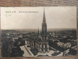 CPA SPEYER A Rh,  BLICK AUF DIE GEDÄCHTNISKIRCHE VUE AERIENNE DE L EGLISE, écrite En 1920 - Speyer