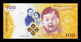 Bhutan 100 Ngultrum 2016 Pick 37 Comm. Royal Baby SC UNC - Bhután