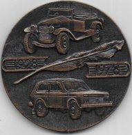 """Médaille Cinquantenaire Du Journal Automobile Russe """" Za Rulem """" ( Diamètre : 66 Mm ; Poids : 131 Gr ) - Voitures"""