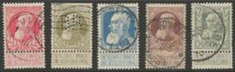 "Léopold II, ""grosse Barbe"", COB 74-78 - 1905 Barbas Largas"